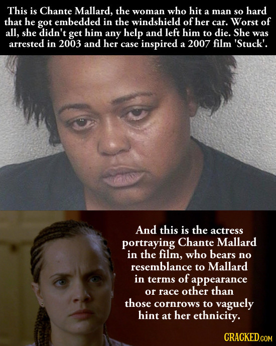 This is Chante Mallard, the woman who hit hard a man so that he got embedded in the windshield of her car. Worst of all, she didn't get him any help a