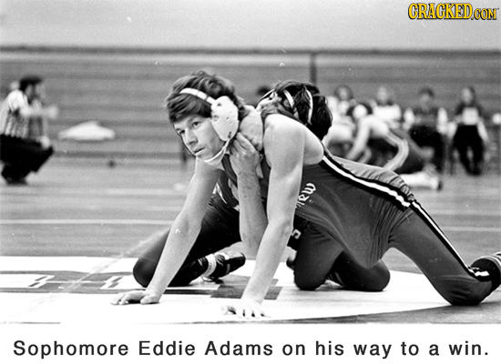 CRACKEDCO mal Sophomore Eddie Adams on his way to a win.
