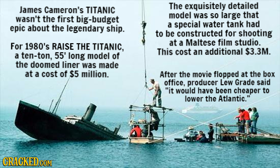 The exquisitely detailed James Cameron's TITANIC model that wasn't the first big-budget was sO large a special water tank had epic about the legendary