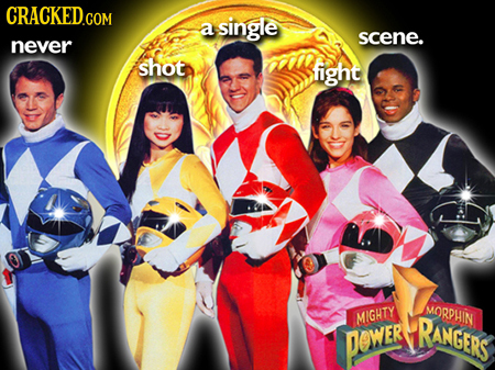 a single scene. never shot fight MORPHIN MIGHTY RANGERS PewER