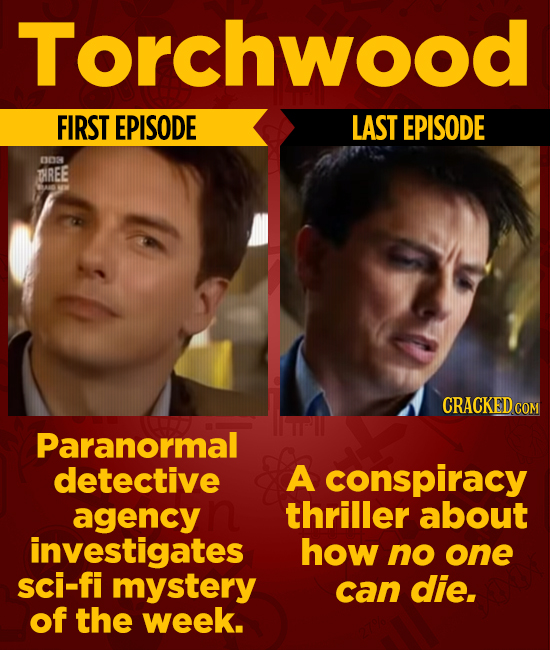 Torchwood FIRST EPISODE LAST EPISODE 0DS TREE CRACKEDcO Paranormal detective A conspiracy agency thriller about investigates how no one sci-fi mystery