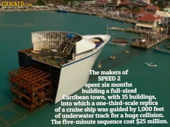 CRACKEDcO COM. HSD The makers of SPEED 2 spent six months building a full-sized Carribean town, with 35 buildings, into which a one-third-scale replic