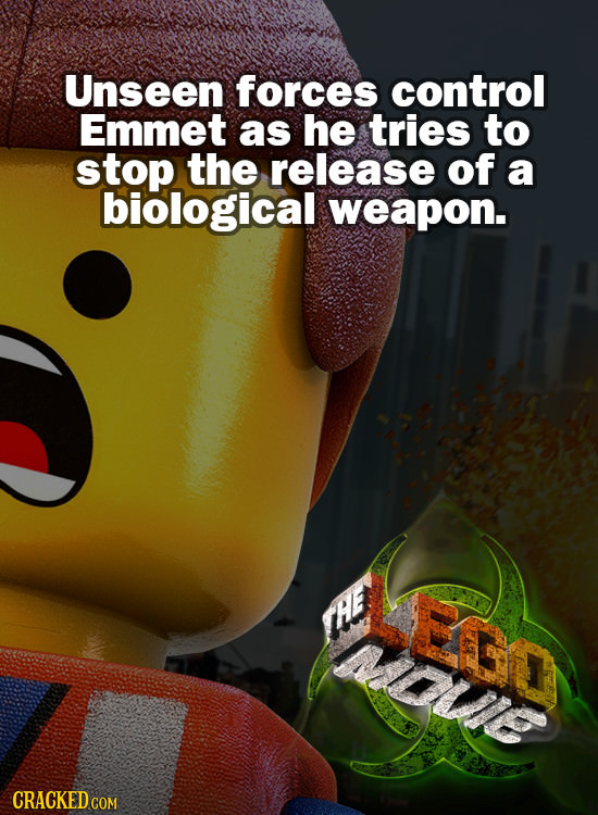Unseen forces control Emmet as he tries to stop the release of a biological weapon.
