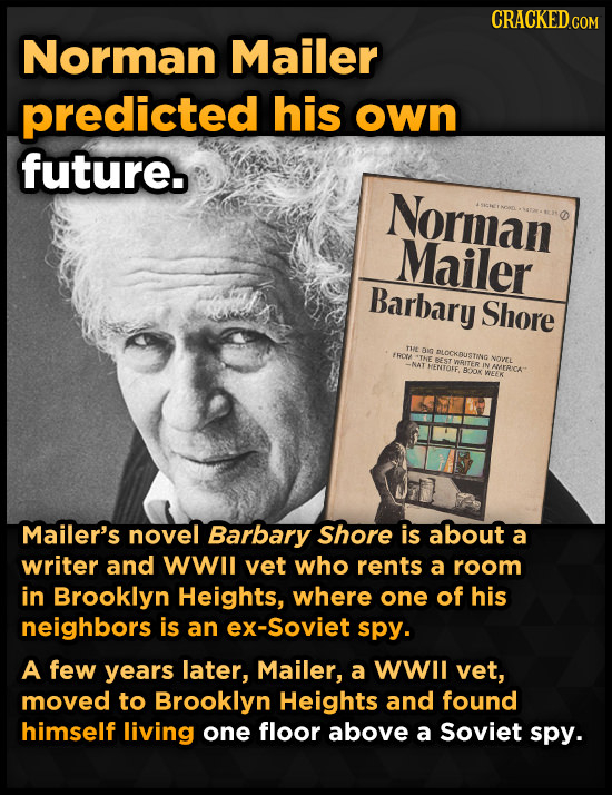 Norman Mailer predicted his own future. Norman Mailer Barbary Shore THe aig fRC DLOCKDUSTING THE T WRITER NOVEL -NAT HENTOFE, N NERICA B.20 VREEK Mail