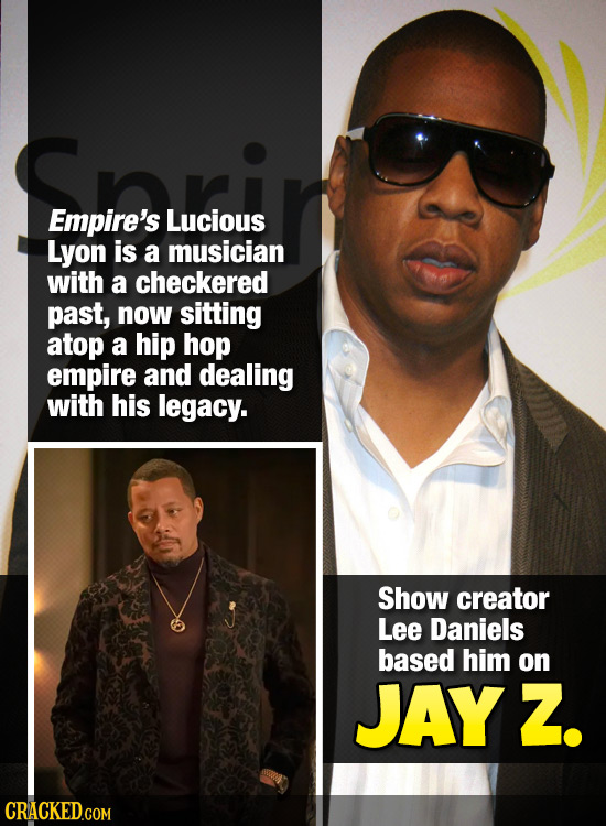 Empire's Lucious Lyon is a musician with a checkered past, now sitting atop a hip hop empire and dealing with his legacy. Show creator Lee Daniels bas