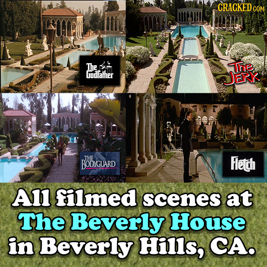 The The iodfather JEr THE BODYGUARD Fleth A1l filmed scenes at The Beverly House in Beverly Hills, CA.
