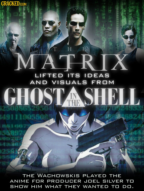 CRACKEDGO 1OVdJaahu mkitlo TI-DBAF eyar >ActS.Eng Ata T H MATRIX LIFTED ITS IDEAS AND VISUALS FROM GHOST SHELL IN THE 1250886529504 $28709249335 14911