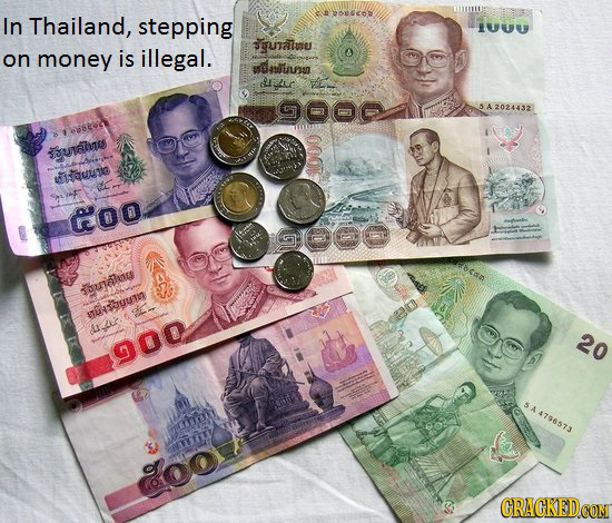 In Thailand, eono stepping UUU gutaluu: on money is illegal. anduunn GOO 5A2024432 SSunahnes eun ge Goo GDOO daalucs STSSUUNO sie Liaus 20 900 A479657