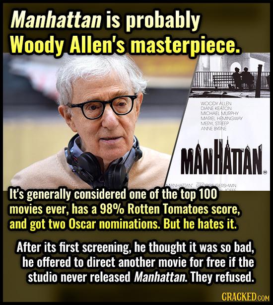Manhattan is probably Woody Allen's masterpiece. WOODY ALLEN DIANE KEATON MICHAEL MURPHY MAREL HEMINGWAY MERVL STREEP ANNE BYRNE MANHATAN. GCRGGERSHVI