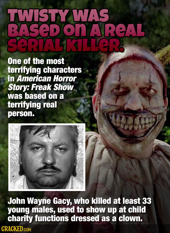TWISTY WAS BASED on A REAL SERIAL KILLER One of the most terrifying characters in American Horror Story: Freak Show was based on a terrifying real per