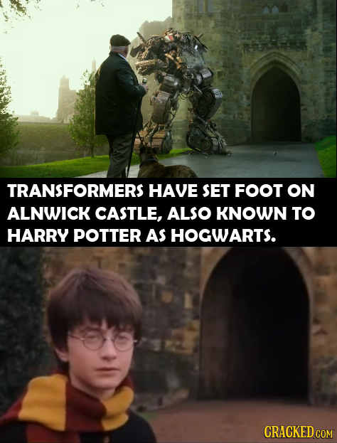 TRANSFORMERS HAVE SET FOOT ON ALNWICK CASTLE, ALSO KNOWN TO HARRY POTTER AS HOGWARTS. CRACKED COM