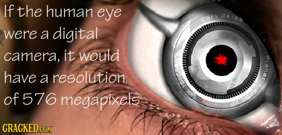 If the human eye Aelss Cor were a digital camera, it would ovsal Pranar have a resolution of 576 megapixels CRACKED COM
