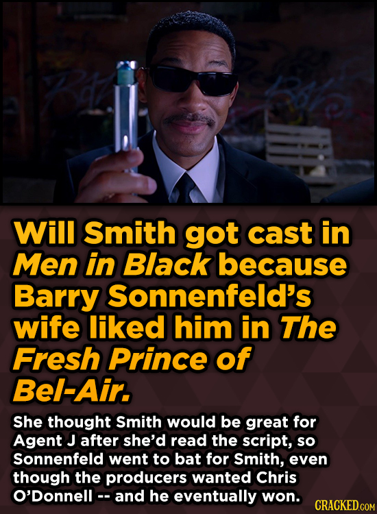 Unpredictably Weird Decisions That Gave Us Major Movie Moments - Will Smith got cast in Men in Black