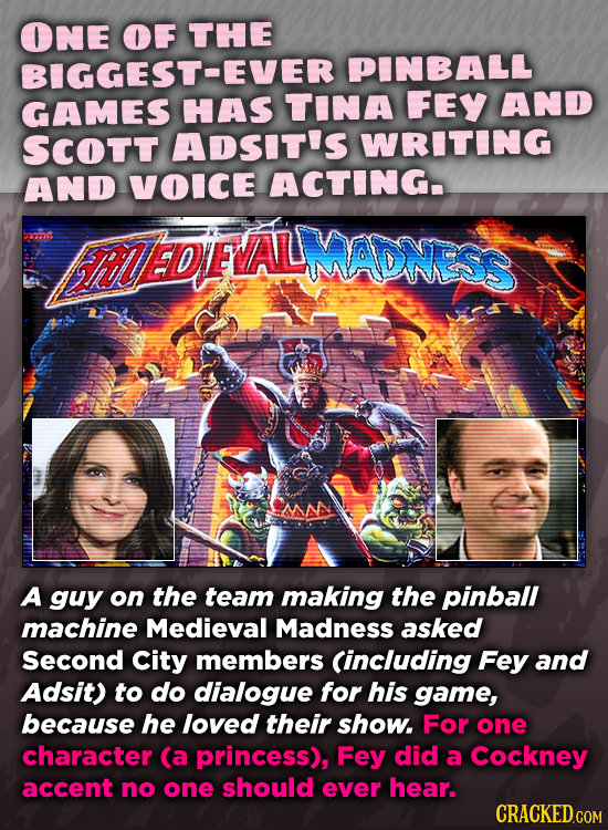 ONE OF THE BIGGEST-EVER PINBALL GAMES HAS TINA FEY AND SCOTT ADSIT'S WRITING AND VOICE ACTING 37720 FhEDFALMADWESS A guy on the team making the pinbal