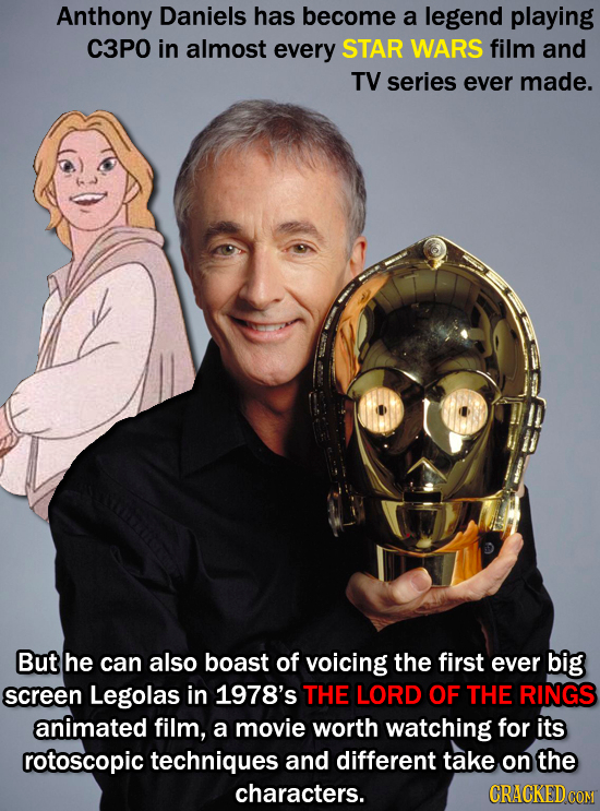 Anthony Daniels has become a legend playing C3P0 in almost every STAR WARS film and TV series ever made. But he can also boast of voicing the first ev