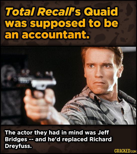 Super-Weird Early Versions Of Famous Characters - Total Recall's Quaid was supposed to be an accountant.