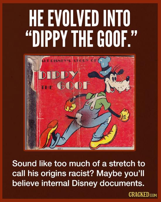 The Dark Origins of Disney's Goofy Character