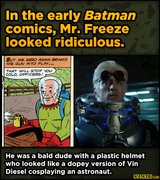 Super-Weird Early Versions Of Famous Characters - In the early Batman comics, Mr. Freeze looked ridiculous.