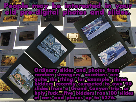 Poople may be interested in your old pro-digital photos and slides. r 20 Zion ABOAD rA 3070 Ordinary slidesand photos from random strangers' vacations
