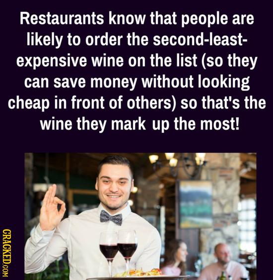 25 Sneaky Ways Restaurants Hack Your Brain