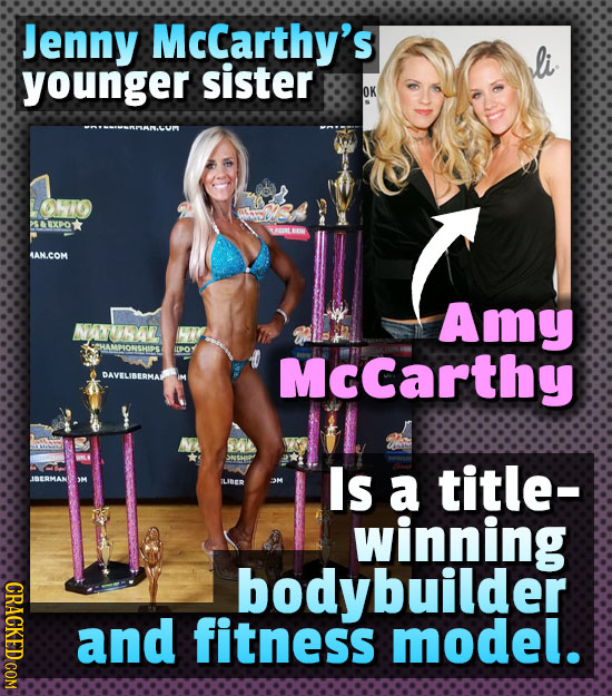 Jenny McCarthy's younger sister OK OHZO sa EXPOT UUURL LB 4AN.COM Amy VANHL HAMPIONSHIPS ILPO McCarthy DAVELIBERMAL Is TLIBER a title- OM winning CRAC