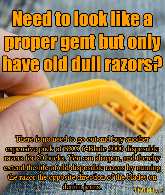 Need to look like a proper gent but only have old dull razors? There is no need to go out and buy another expensive pack of SXX 6 -Blade 5000 disposab