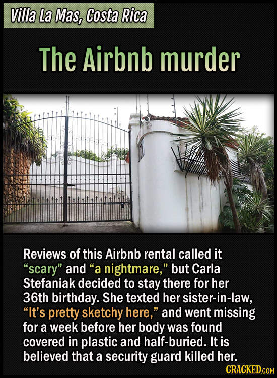 """Villa La Mas, Costa Rica - The Airbnb murder - Reviews of this Airbnb rental called it """"scary"""" and """"a nightmare,"""" but Carla Stefaniak decided to stay"""