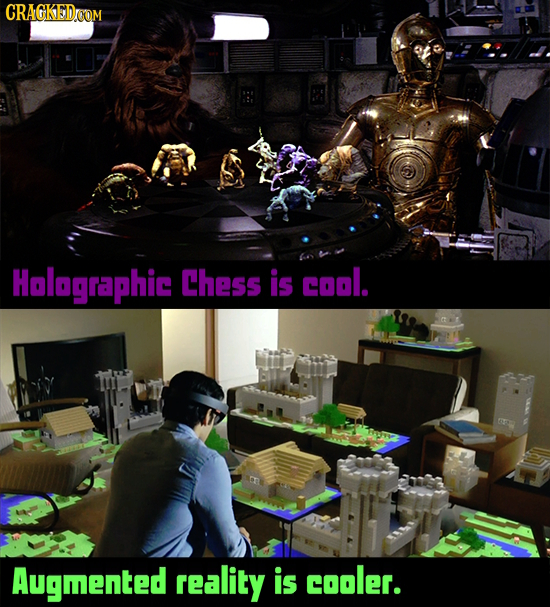 CRAGKEDOOM Hnlagraphic Chess is cool. Augmented reality is cooler.