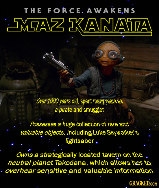 T HE FOBCE. AWAKE.N S MAZ KANATZA Over 1000 years old. spent many years as a pirate and smuggler Possesses a huge collection of rare and valuable obje