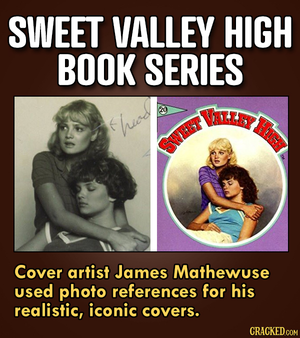 SWEET VALLEY HIGH BOOK SERIES 20 UALLEY 6 hied SWEET Cover artist James Mathewuse used photo references for his realistic, iconic covers.