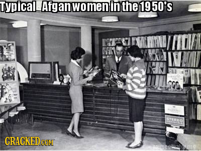 Typicall Afgan omen in the 1950's STEREO CRACKED CONT DAROODE