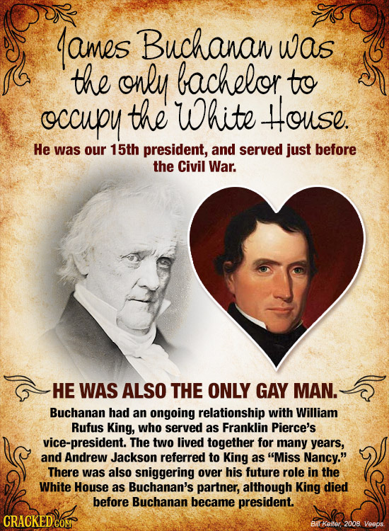 The First Gay President: 18 Sexual Secrets Of US Presidents