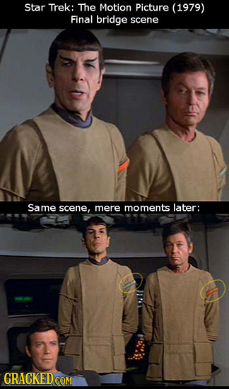 Star Trek: The Motion Picture (1979) Final bridge scene Same scene, mere moments later: CRACKEDCON COM