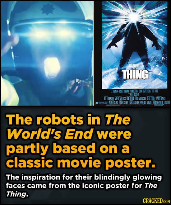 Surprising Sources Of Inspiration For Your Fav Characters - The robots in The World's End were partly based on a classic movie poster.