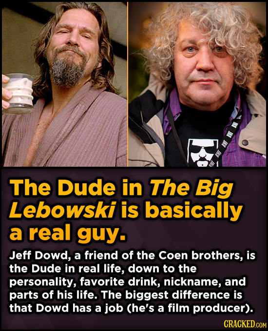 Surprising Sources Of Inspiration For Your Fav Characters - The Dude in The Big Lebowski is basically a real guy.
