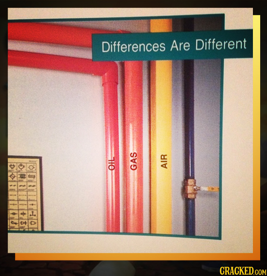 Differences Are Different OIL GAS AIR CRACKED.COM