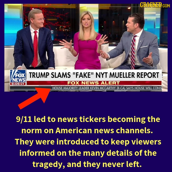 CRAGKEDCON FOX FOX TRUMP SLAMS FAKE NYT MUELLER REPORT NEWS FOX NEWS ALERT 6:06CT HOUSE MAJORITY FADER KEVIN MCCARTHY (R-CA SAYS HOUSE WILL CONS 9/1