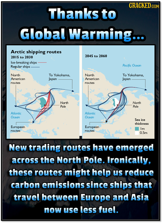 CRACKEDCON Thanks to Global Warming... Arctic shipping routes 2015 to 2030 2045 to 2060 Ice- -breaking ships Regular ships Pacific Ocean North To Yoko