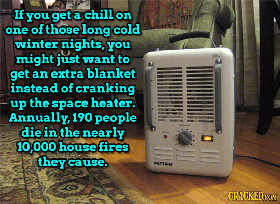 If you get a chill on one of those long cold winter nights, you might just want to get an extra blanket instead of cranking up the space heater. Annua