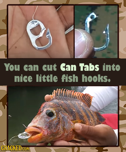 You can cut Can Tabs into nice little fish hooks. CRACKED