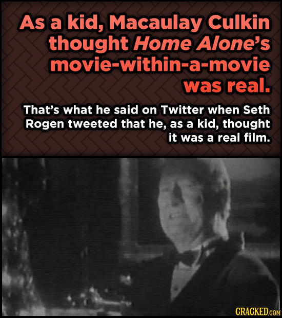 Odd, Fascinating Trivia About Home Alone - As a kid, Macaulay Culkin Home Alone's movie-within-a-movie was real.