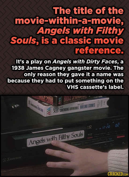 Odd, Fascinating Trivia About Home Alone - The title of the movie-within-a-movie, Angels Filthy Souls, is a classic movie reference.