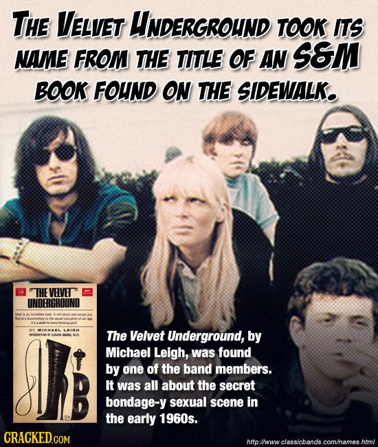 THE VELVET UNDERGROUND TOOK ITS NAME FROM THE TITLE OF AN SEM BOOK FOUND ON THE SIDEWALK. THE VELVET UNOERGROUND MCRLAL LTO The Velvet Underground, by