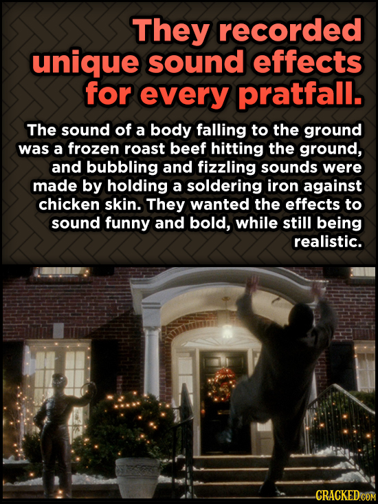 Odd, Fascinating Trivia About Home Alone - They recorded unique sound effects for every pratfall.