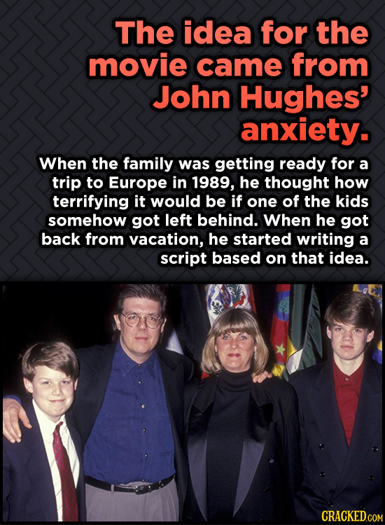 Odd, Fascinating Trivia About Home Alone - The idea for the movie came from John Hughes' anxiety.