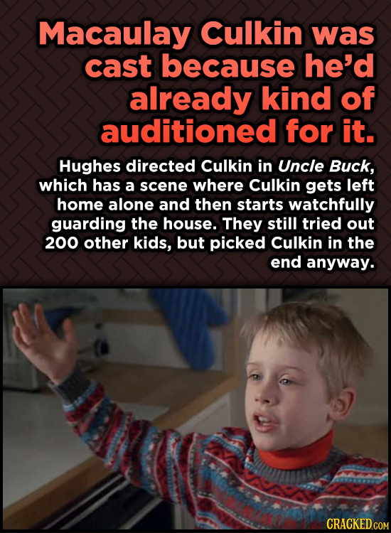 Odd, Fascinating Trivia About Home Alone - Macaulay Culkin was cast because he'd already kind of auditioned for it.