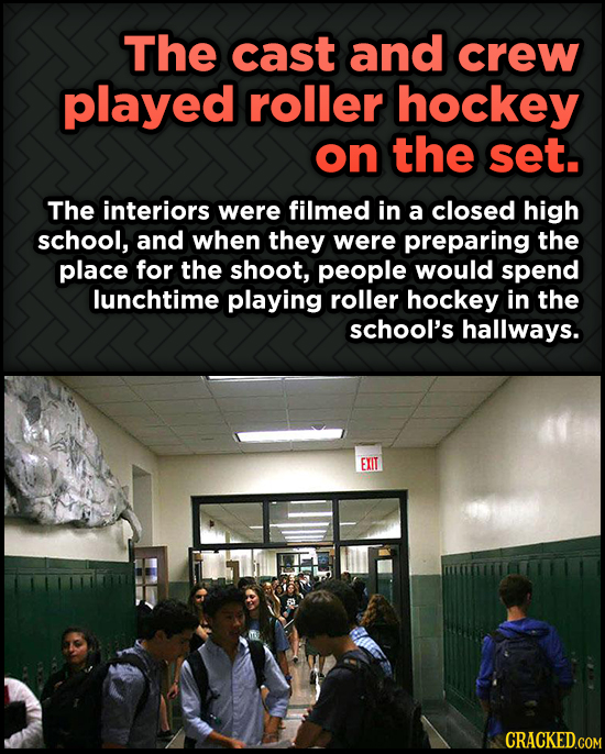 Odd, Fascinating Trivia About Home Alone - The cast and crew played roller hockey on the set. The interiors were filmed
