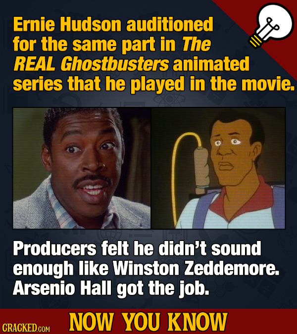 Ernie Hudson auditioned for the same part in The REAL Ghostbusters animated series that he played in the movie. Producers felt he didn't sound enough