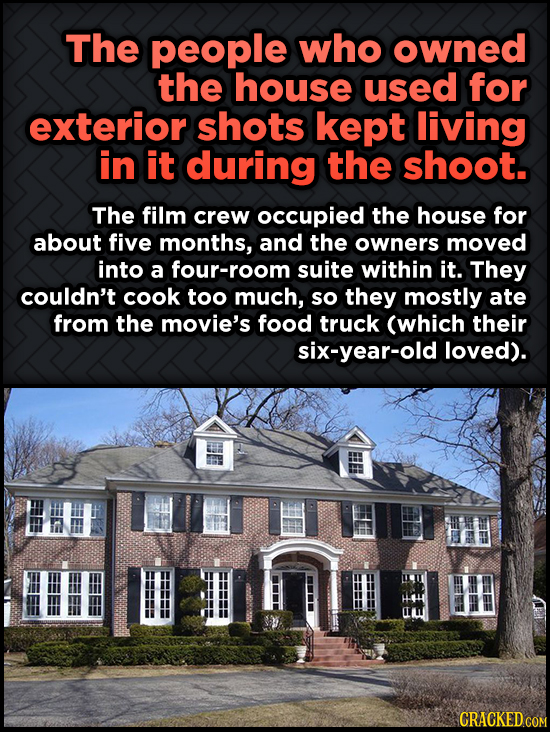 Odd, Fascinating Trivia About Home Alone - The people who owned the house used for exterior shots kept living in it during
