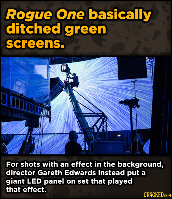 Ingenious Ways Famous Movies Pulled Off Special Effects - Rogue One basically ditched green screens.